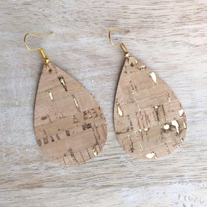 Gold Cork Earrings