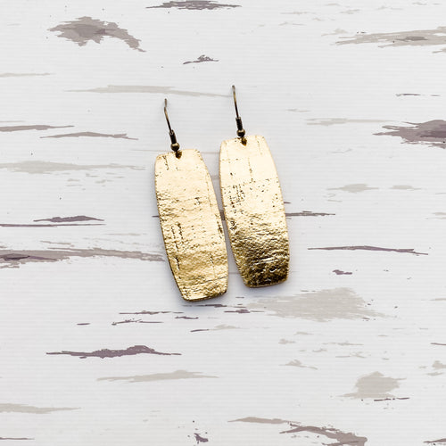Metallic Gold Cork Earrings