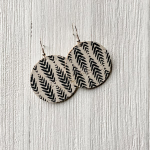 Black Quill Cork Earrings