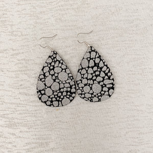 Pebbled Leather Earrings