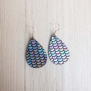 Mermaid Leather Earrings