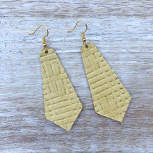 Load image into Gallery viewer, Canary Leather Earrings