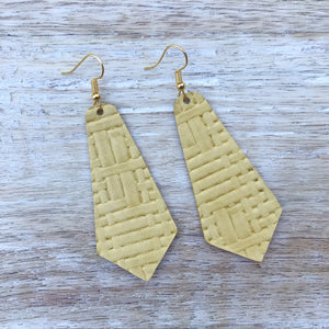 Canary Leather Earrings