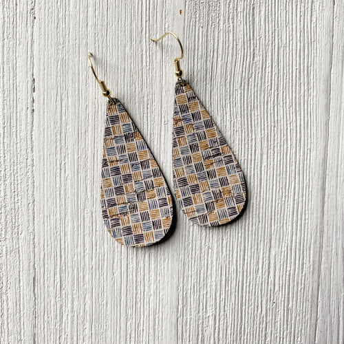 Geo Cork Earrings
