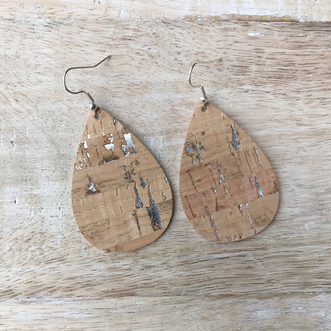 Silver Cork Earrings