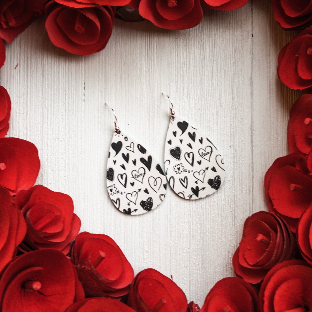 Love Notes Leather Earrings