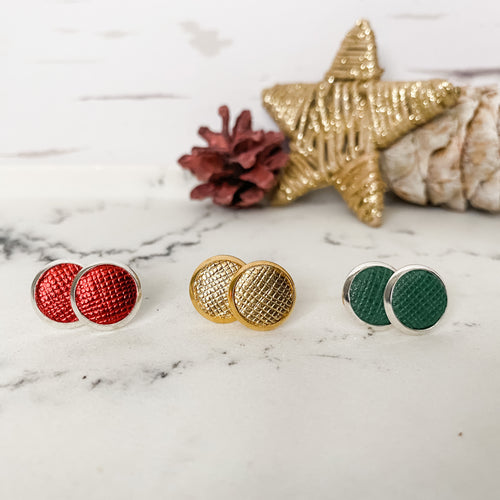 Holiday Leather Stud Trio