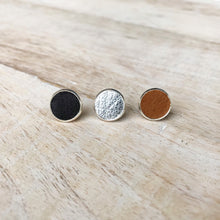 Load image into Gallery viewer, Back to Basics - Leather Earring Stud Trio