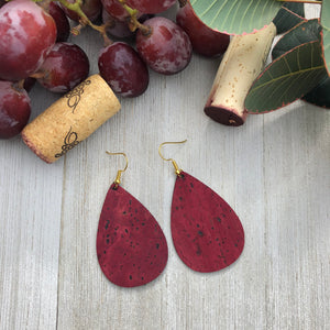 Gold Cabernet Cork Earrings