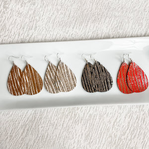 NEW! Glistening Leather Earrings