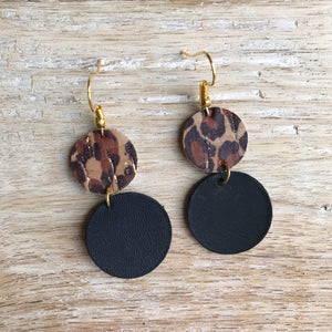 Leopard & Leather Earrings