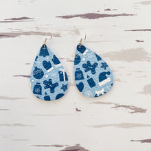 Load image into Gallery viewer, NEW! Holiday Prints Leather Earrings