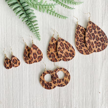 Load image into Gallery viewer, Leopard Cork Earrings