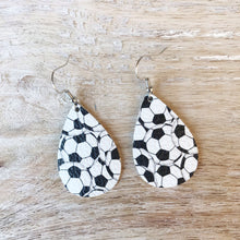 Load image into Gallery viewer, Soccer Leather Earrings
