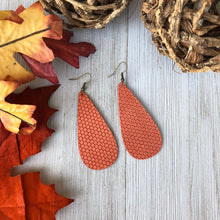 Load image into Gallery viewer, Pumpkin Leather Earrings