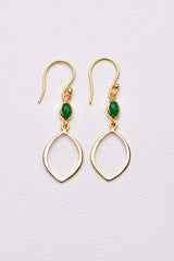 Josie Earring - Green Amazonite