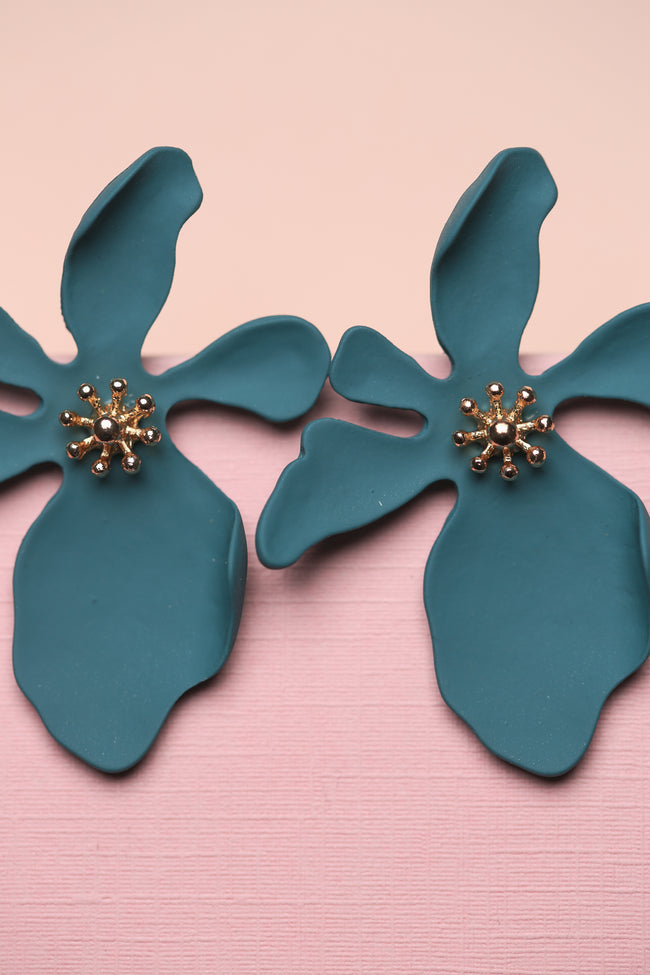 Zafino Orchid Earring in Teal Blue