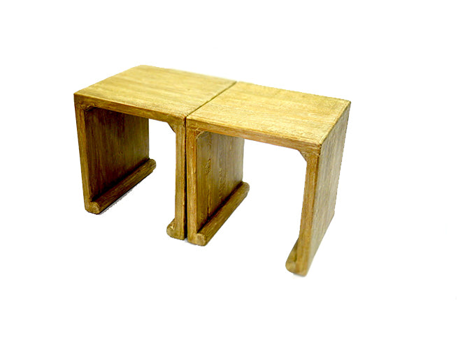 GREEK KEY INSPIRED END TABLES
