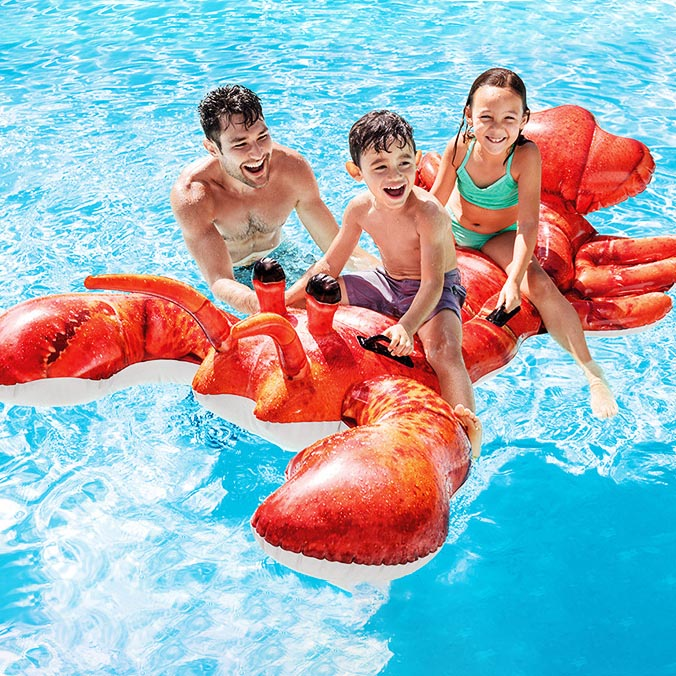 Giant Inflatable Lobster Pool Floats 🦞🏖️