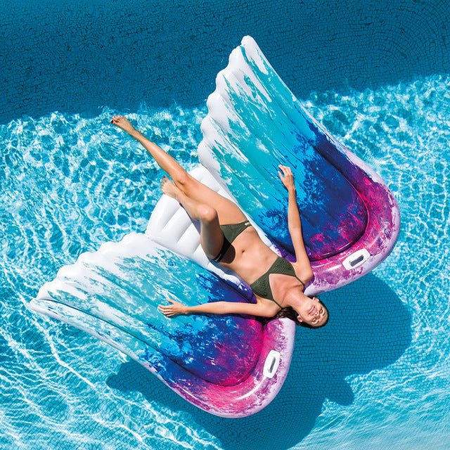 Giant Inflatable Angel Wings Pool floats 👼🏻🏖️