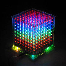 Load image into Gallery viewer, 3D 8x8x8 multi-color DIY LED light Cubic