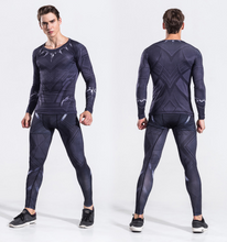 Load image into Gallery viewer, Superman Fitness Tights Suit Long-Sleeved Speed Dry Breathable Clothes