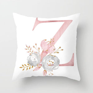 Pink Letter Decorative Pillowcase Cushions for Sofa
