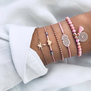 30 Styles Bohemian Bracelet Set Star lotus Heart Natural stone