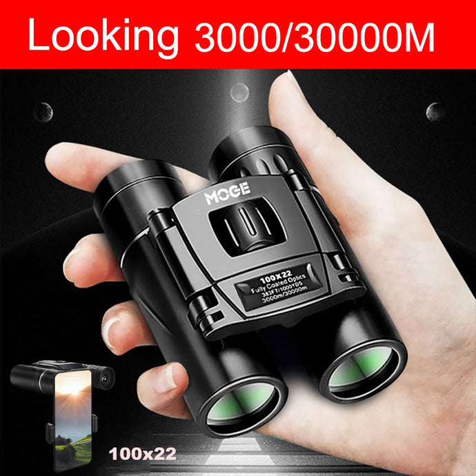 30000m Professional Binoculars 100x22 Micro-Light Night Vision Outdoor Telescope for Mobile Phone