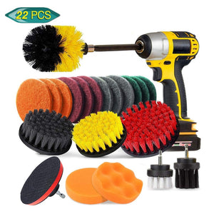 Drill Brush Scrub Pads 31 Piece Power Scrubber Cleaning Kit