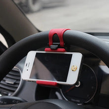 Load image into Gallery viewer, Car Steering Wheel Phone Clip Mount Holder Phone Stand