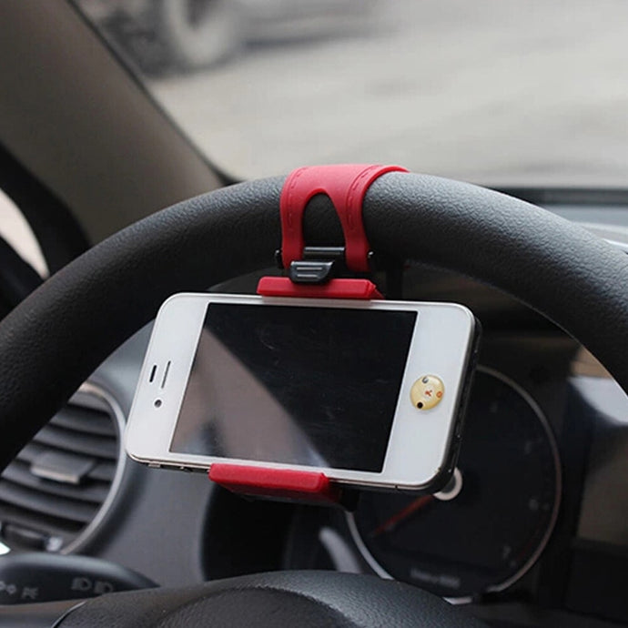 Car Steering Wheel Phone Clip Mount Holder Phone Stand