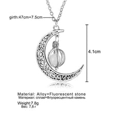 Load image into Gallery viewer, Neo-Gothic Luminous Pendant Necklace Women Charm Moon