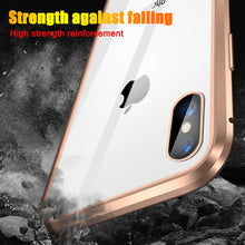 Load image into Gallery viewer, iPhone Magnetic 360 Anti-Spy Privacy Glass Magnet Metal Case 6 7 8 6s Plus