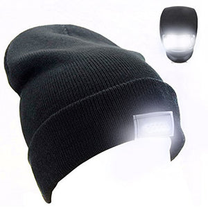 LED Light Cap Knit Beanie Hat with Batteries Outdoor Hunting Camping Fishing