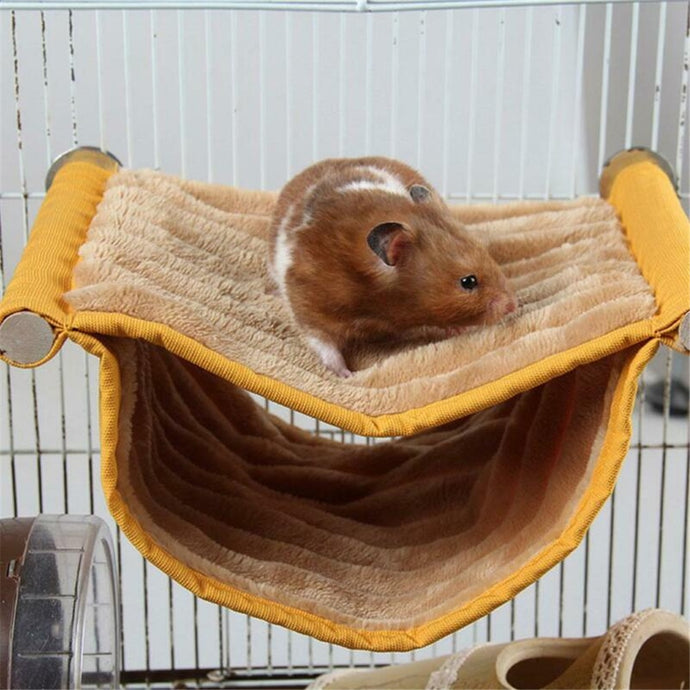 Hamster Cage Hammock Guinea Pig Sleeping Bed Winter Warm Double layer