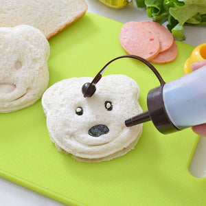 Little Bear Shape Sandwich Mold Bread Biscuits Embossed Device Cake Mold