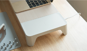 Multifunctional Wooden Monitor Stand (with Wireless Charger / Fast Charging Hub)