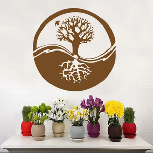 Ecosphere Tree Symbol Wall Sticker 🔮🌲