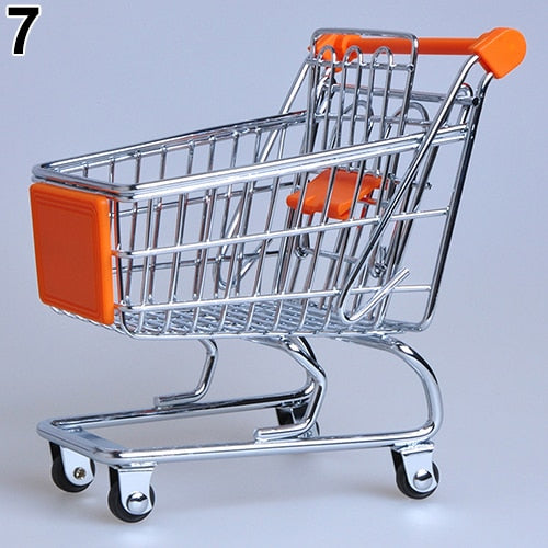 Supermarket Hand Trolley Mini Shopping Cart