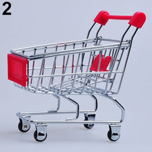 Load image into Gallery viewer, Supermarket Hand Trolley Mini Shopping Cart