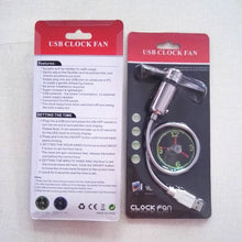 Load image into Gallery viewer, LED Clock Hand Mini USB Fan Cool