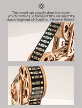 Load image into Gallery viewer, Wooden Hand Crank Diy 3D Film Projector