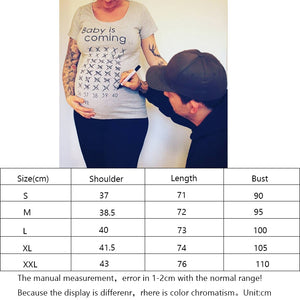 Women Maternity Clothing Pregnant Short T Shirt