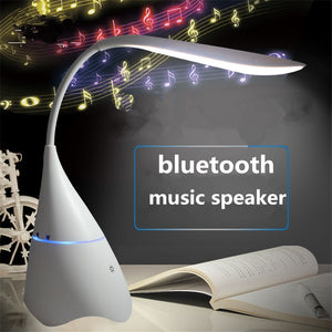 Stereo Wireless Table Lamp USB Rechargeable Bluetooth Speaker Light Reading Lamp