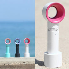 Load image into Gallery viewer, USB Rechargeable Portable Bladeless Fan Mini Cooler No Leaf