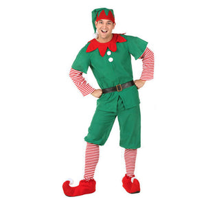 Green Christmas Elf Cosplay Costume for Family