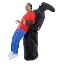 Load image into Gallery viewer, Halloween Pork Ribs Black Dinosaur Inflatable Costume