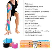Load image into Gallery viewer, 5M Waterproof Breathable Cotton Kinesiology Tape 🏃🏃‍♀️