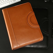 Load image into Gallery viewer, A4 Leather Portable Multi-function Folder